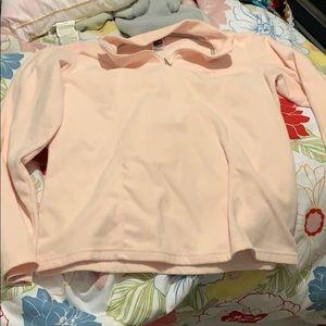 Size XL light pink north face fleece